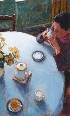 james mackeown(1961- ), cup of tea. oil on masonite, 39 x 23.5 cm. northern ireland civil service, uk http://www.bbc.co.uk/arts/yourpaintings/paintings/cup-of-tea-228048