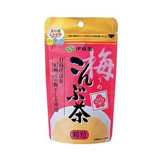 Ume konbu cha (Plum kelp tea) makes excellent tea and seasoning for cooking a variety of dishes.  Producer:Itoen Country of Manufacturing: Japan Amount:55g