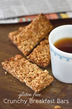 Gluten Free Breakfast: Crunchy Granola Bars | Gluten Free on a Shoestring