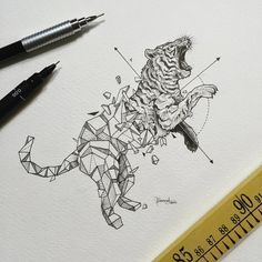 Geometric Beast Collection by Kerby Rosanes von Evelyn | We Heart It