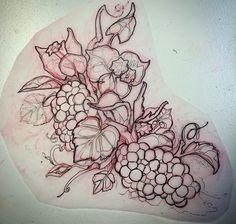 Grape tattoo idea