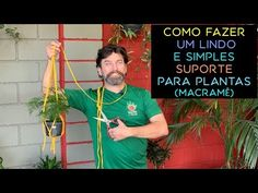 Como Fazer um Lindo e Simples Suporte Para Plantas (Macrame) - YouTube Circle Pattern, Plant Decor, Plant Hanger, Youtube, Plants, Minimal Decor, Sweet, Gardening Tips, Urban Gardening