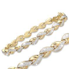Genuine Diamond-Accent Luxurious Tennis Bracelet