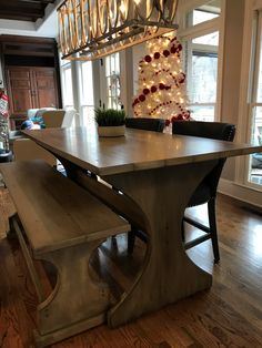 We custom build this beautiful breakfast table for our wonderful client right before the holidays. Build and design by Black Dog Design House Residential Interior Design, Commercial Interior Design, Commercial Interiors, Interior Design Services, Dog Design, House Design, Construction Contractors, Design Firms, Service Design