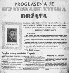 WWII. - 1941. - Croatia / NDH - plakat - Proglašenje NDH - 10.4.