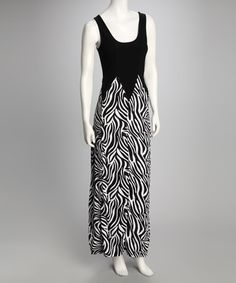 Take a look at this Black & White Swirl Maxi Dress by A List on #zulily today!     $22.99