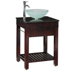 Home Decorators Collection, Lofty 25 in. W x 22 in. D Vanity in Dark Walnut with Granite Vanity Top in Black, 0138810810 at The Home Depot - Mobile