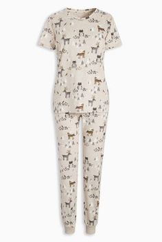 Buy Oatmeal Woodland Pyjamas from the Next UK online shop