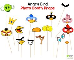Angry Birds Party Photo Booth Props for your Angry Birds Party. Your guests will have a blast taking pictures with these cute Angry Birds Props.