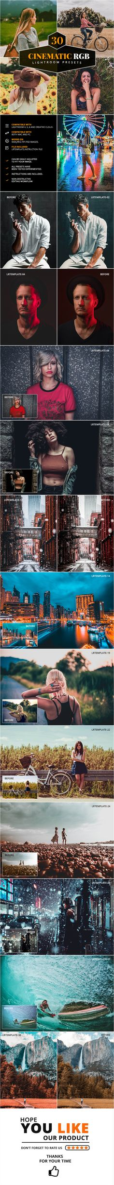 Collection of 30 Beautiful Quality Lightroom Presets Email Delivery