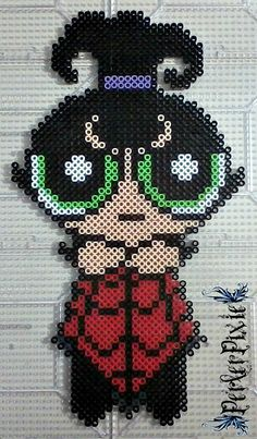 Buttercup Dressed as Lydia from Beetlejuice by PerlerPixie
