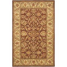 Safavieh Golden Jaipur Collection GJ250E Handmade Rust and Green Wool Area Rug, 4 feet by 6 feet (4′ x 6′)