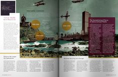 the layout and colors of this are refreshing! brings life and excitement into a magazine spread!