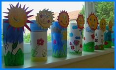 30 World Water Day Crafts - Preschool - Aluno On Bible Crafts For Kids, Mothers Day Crafts, Diy For Kids, Preschool Art Activities, Spring Activities, Summer Crafts, Diy And Crafts, Arts And Crafts, Toilet Paper Roll Crafts