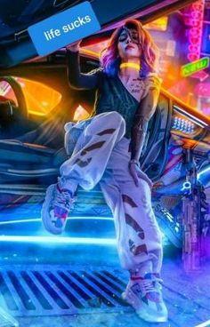 Cyberpunk Style Fashion - style Cyberpunk Fashion Source by timplessin - Cyberpunk 2077, Cyberpunk Mode, Cyberpunk Kunst, Cyberpunk Girl, Cyberpunk Aesthetic, Cyberpunk Fashion, Neon Aesthetic, Aesthetic Drawing, Aesthetic Girl