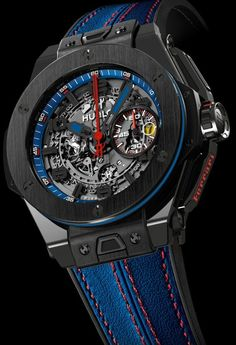 Hublot King Power Big Bang Ferrari Beverly Hills watch - limited edition of 50 pieces. Price $29,900.00.