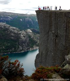 don't get too close to the edge Stavanger, Daily Photo, Roads, Norway, Waterfall, City, Places, Photos, Travel
