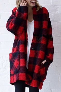 Red plaid jacket | Street Style | Plaid | Pinterest | Plaid jacket ...