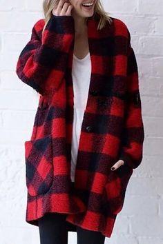Red plaid jacket | Street Style | Plaid | Pinterest | Plaid jacket ...