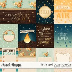 Blissful Autumn Cards by Kristin Cronin-Barrow at Sweet Shoppe Designs