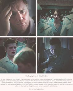 The Reaping: Mr Mellark's POV. (Source: mellarkia on Tumblr)  I love this!  I mean, I have always loved Mr. Mellark as a character, but I never thought about this crucial moment from his point of view.