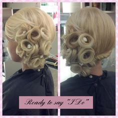 """Fabulous up do for when you say """"I Do"""" from Amp Blo Bar inside #ThePalms in #Vegas"""