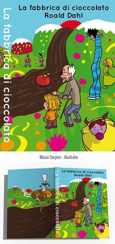 """""""la fabbrica di cioccolato"""" Dahl Serpieri, Book Covers, Comic Books, Comics, Illustration, Illustrations, Cartoons, Cartoons, Comic"""