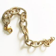 J. Crew Crystal Pave Link Bracelet Beautiful Crystal pave link bracelet from J. Crew Factory is in NWOT condition. Questions? Please ask! Sorry, no trades. The other bracelets worn are also listed in my closet. Thanks for looking! J. Crew Jewelry Bracelets