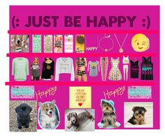 """""""Just Be Happy Because Happy Is The Key To Everything!"""" by akniss on Polyvore featuring Nail Pop, Casetify, ONLY, Chaser, Kate Spade, DENY Designs, PBteen, Lanvin and Columbia"""
