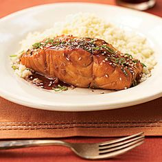 Bourbon-Glazed Salmon best sea foods