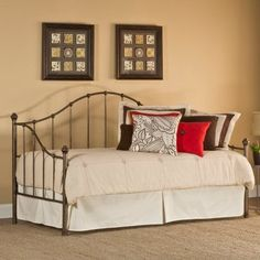 Amy Daybed with Daybed Suspension Deck, Aged Steel