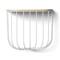 Wandregal FUWL Cage Shelf weiß