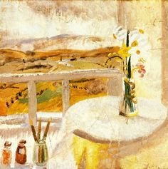 From Bedroom Window, Bankshead - Winifred Nicholson - Wikipedia Interior Color Schemes, Interior Paint Colors, Paint Schemes, Interior Painting, Purple Interior, Brown Interior, Light Painting, House Painting, Painting Doors