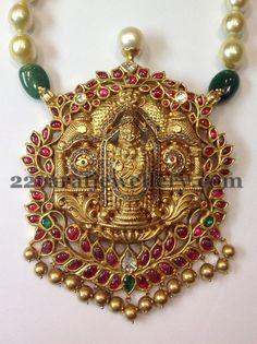 lord venkateswara swamy Pentant with Rubies