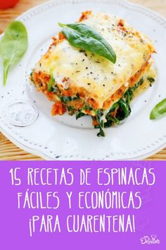 recetas faciles con espinacas para cuarentena Health And Fitness Articles, Health Fitness, Small Meals, Home Food, Food N, Empanadas, Deli, Recipies, Yummy Food