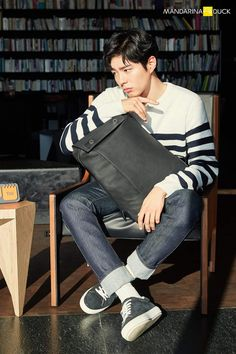 Park Bo Gum for Mandarina Duck Tote Backpack, Leather Backpack, Kdrama Actors, Bo Gum, Korea Fashion, Kpop Aesthetic, Korean Men, Beautiful Boys, Boy Groups