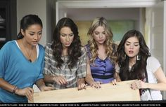 Emily Fields,Spencer Hastings,Hanna Marin,and Aria Montgomery Pretty Little Liars Season 1 Episode 8 Please,Do Talk About Me When I'm Gone