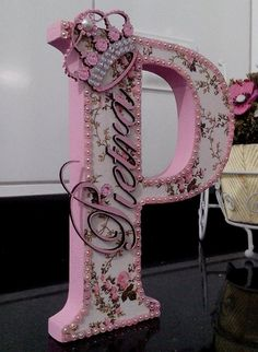 Custom order floral letter //baby shower gift// wedding decor // home decor Floral Letters, Letter A Crafts, Wood Letters, Monogram Letters, Cardboard Letters, Craft Projects, Projects To Try, Diy And Crafts, Paper Crafts