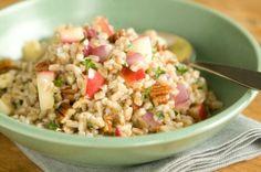 Farro, Apple and Pecan Salad