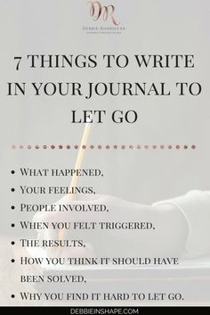 Journaling can be a powerful form of therapy and an outlet for feelings to manifest themselves. Next time you're dealing with negative emotions surrounding an event try journaling. Journal Writing Prompts, Gratitude Journals, Good Vibe, Self Discovery, Self Development, Personal Development, Journal Inspiration, Self Improvement, Self Help