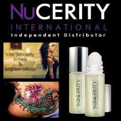 Skincerity for tattoo's - heal & brighten Www.buynucerity.com/376904