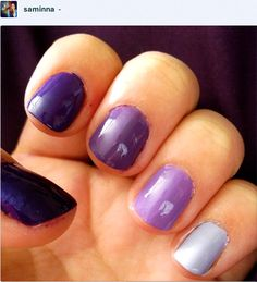 my very own purple ombré nails  :)