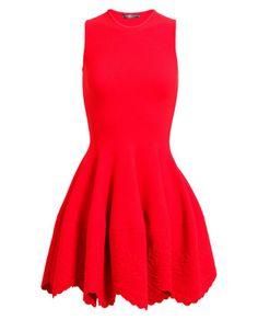 ALEXANDER MCQUEEN | Embossed Stretch Knit Dress