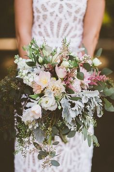 rustic bouquet - photo by http://Gantes.Co http://ruffledblog.com/handcrafted-orchard-ranch-wedding