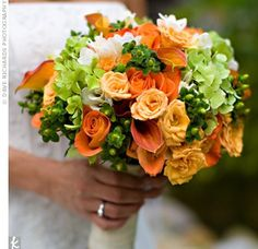 Art Orange and Green Wedding wedding-and-party-ideas