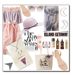 """Island getaway by vpfashion-accessory!"" by samra-bv ❤ liked on Polyvore featuring Jimmy Choo, Charlotte Russe, Tri-coastal Design, Lancôme, Sun Bum, Chanel, ban.do, polyvorecontest and vpfashion"