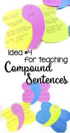 Teaching Compound Sentences with Comma Butterflies Grammar Activities, Teaching Grammar, Teaching Language Arts, Grammar Lessons, Writing Lessons, Teaching Writing, Writing Activities, Speech And Language, Teaching English