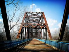The Chain of Rocks Bridge is a bridge spanning the Mississippi River on the north edge of St. Louis, Missouri.