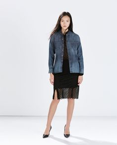ZARA - NEW THIS WEEK - DENIM OVERSHIRT