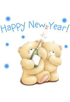 Happy New Year Minions, Happy New Year 2016, Happy New Years Eve, Happy New Year Images, Merry Christmas And Happy New Year, Teddy Bear Quotes, Teddy Bear Cartoon, Cute Teddy Bears, Hello Kitty Christmas